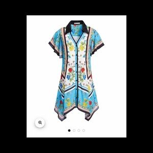 "Alice and Olivia ""Conner Handkerchief Shirt Dress"""